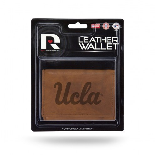UCLA Bruins Brown Leather Trifold Wallet