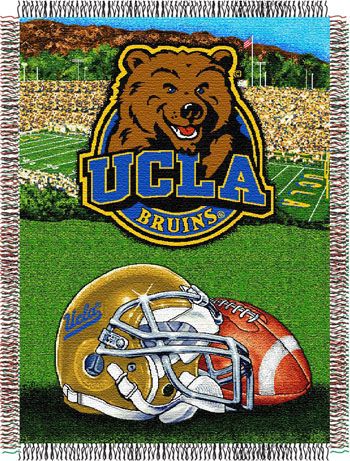 UCLA Bruins NCAA Woven Tapestry Throw / Blanket