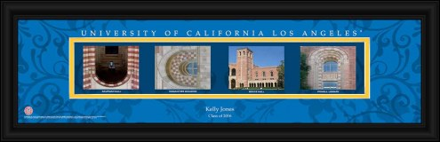 UCLA Bruins Personalized Campus Letter Art