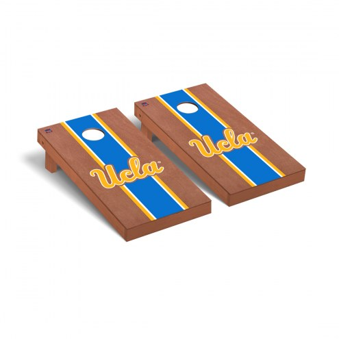 UCLA Bruins Rosewood Stained Stripe Cornhole Game Set
