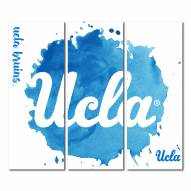 UCLA Bruins Triptych Watercolor Canvas Wall Art