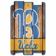 UCLA Bruins Wood Fence Sign