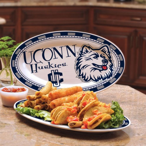 Connecticut Huskies Ceramic Serving Platter