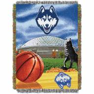 UConn Huskies NCAA Woven Tapestry Throw / Blanket