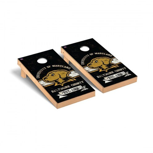 UMBC Retrievers Banner Vintage Cornhole Game Set