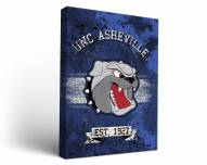 UNC Asheville Bulldogs Banner Canvas Wall Art