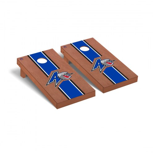 UNC Asheville Bulldogs Rosewood Stained Cornhole Game Set