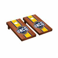 UNC Greensboro Spartans Rosewood Stained Stripe Cornhole Game Set