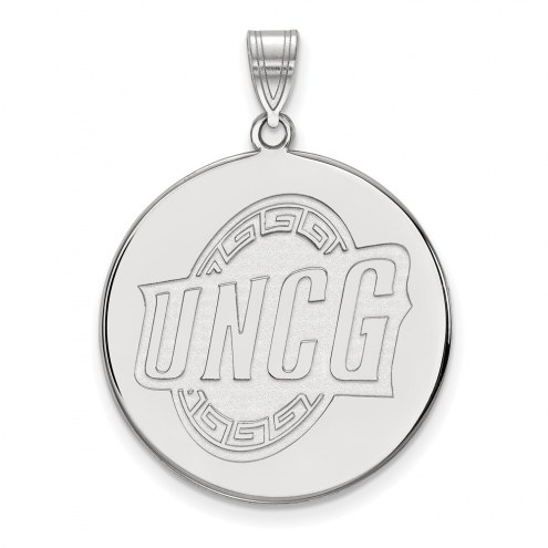 UNC Greensboro Spartans Sterling Silver Extra Large Disc Pendant