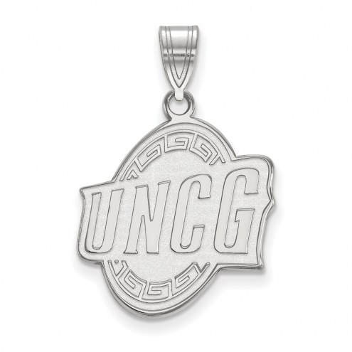 UNC Greensboro Spartans Sterling Silver Large Pendant
