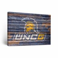 UNC Greensboro Spartans Weathered Canvas Wall Art