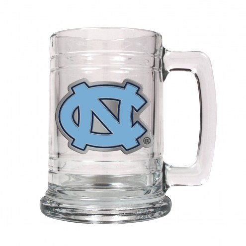 UNC North Carolina Tar Heels College Glass Tankard Beer Mug 2-Piece Set