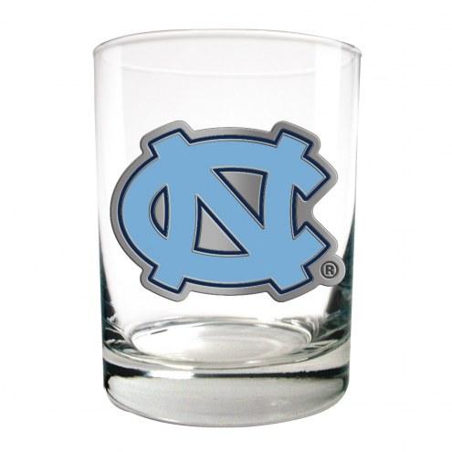 UNC North Carolina Tar Heels College 2-Piece 14 Oz. Rocks Glass Set