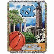 UNC University of North Carolina Tarheels NCAA Woven Tapestry Throw / Blanket