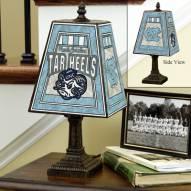 North Carolina Tarheels NCAA Hand-Painted Art Glass Table Lamp
