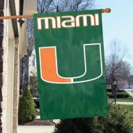 University of Miami - U NCAA Embroidered / Applique College Flag Banner