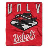 UNLV Rebels Alumni Raschel Throw Blanket