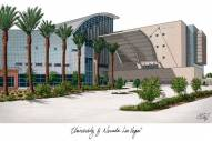 UNLV Rebels Campus Images Lithograph