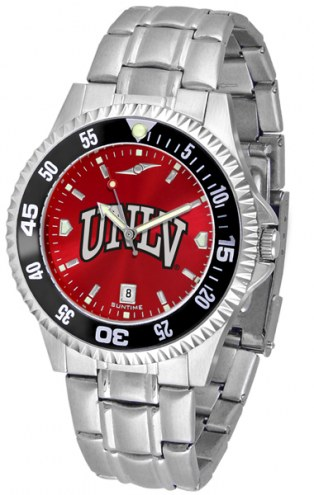 UNLV Rebels Competitor Steel AnoChrome Color Bezel Men's Watch