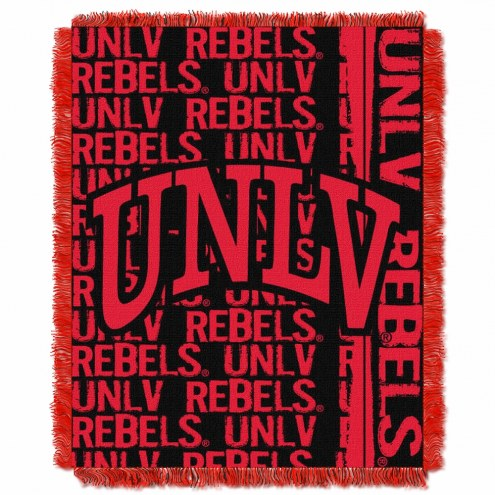UNLV Rebels Double Play Woven Throw Blanket