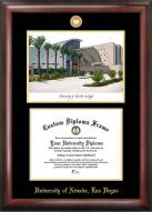 UNLV Rebels Gold Embossed Diploma Frame with Lithograph