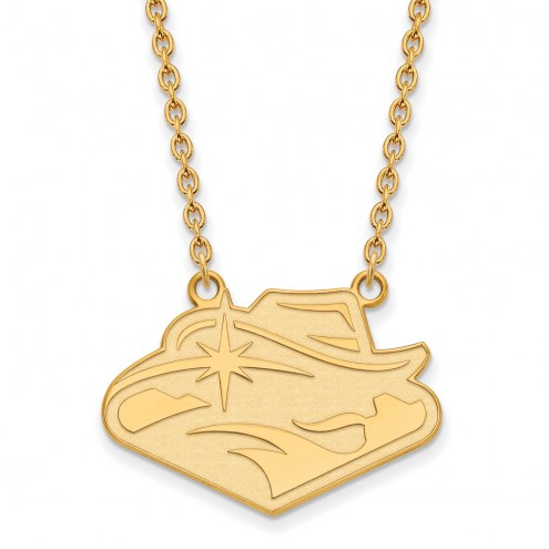 UNLV Rebels Sterling Silver Gold Plated Large Pendant Necklace