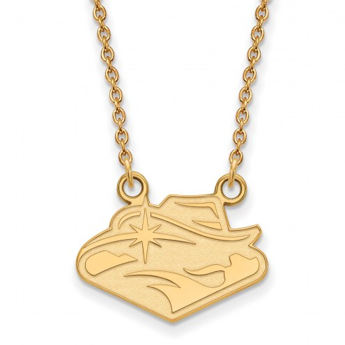 UNLV Rebels Sterling Silver Gold Plated Small Pendant Necklace
