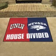 UNLV Rebels/Nevada Wolf Pack House Divided Mat
