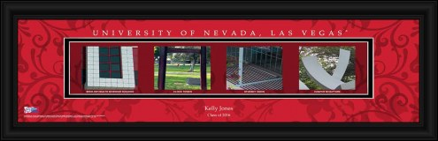 UNLV Rebels Personalized Campus Letter Art