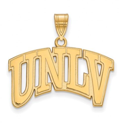 UNLV Rebels Sterling Silver Gold Plated Large Pendant