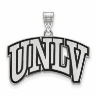 UNLV Rebels Sterling Silver Large Enameled Pendant