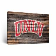 UNLV Rebels Weathered Canvas Wall Art