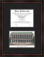 University of Washington Diplomate Framed Lithograph with Diploma Opening