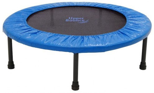 """Upper Bounce 40"""" Mini 2 Fold Rebounder Trampoline with Carry-on Bag Included"""