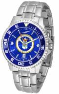 Air Force Falcons Competitor Steel AnoChrome Color Bezel Men's Watch