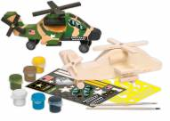 U.S. Army Apache Helicopter Wood Paint Kit