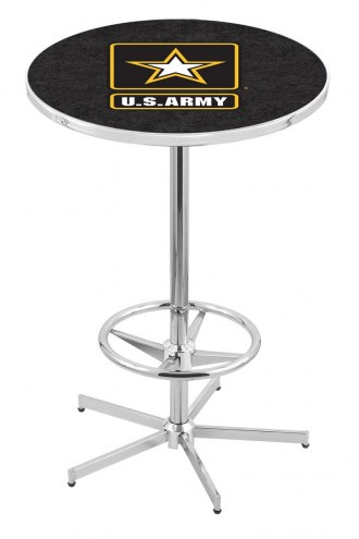 U.S. Army Black Knights Chrome Bar Table with Foot Ring