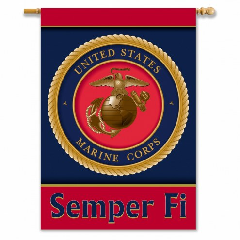 """U.S. Marine Corps 28"""" x 40"""" Two-Sided Banner"""