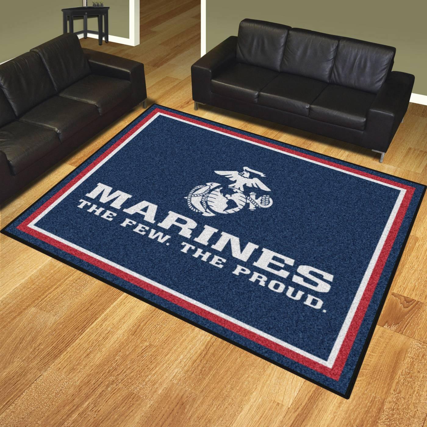 U S Marine Corps 8 X 10 Area Rug