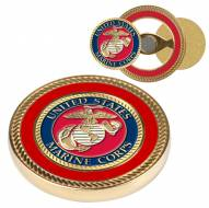 U.S. Marine Corps Challenge Coin with 2 Ball Markers