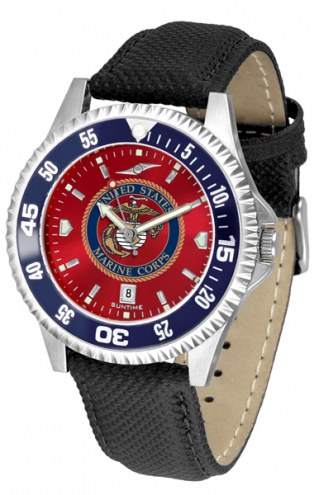 U.S. Marine Corps Competitor AnoChrome Men's Watch - Color Bezel