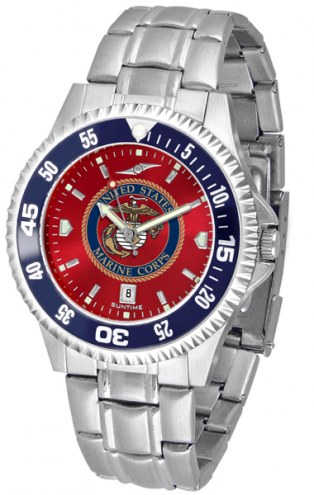 U.S. Marine Corps Competitor Steel AnoChrome Color Bezel Men's Watch