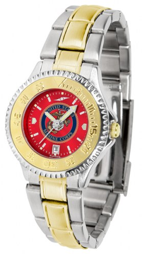 U.S. Marine Corps Competitor Two-Tone AnoChrome Women's Watch