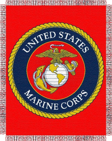 U.S. Marine Corps Double Play Woven Throw Blanket