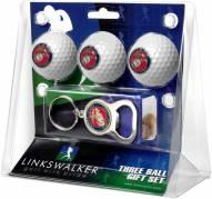 U.S. Marine Corps Golf Ball Gift Pack with Key Chain