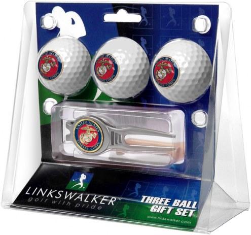 U.S. Marine Corps Golf Ball Gift Pack with Kool Tool