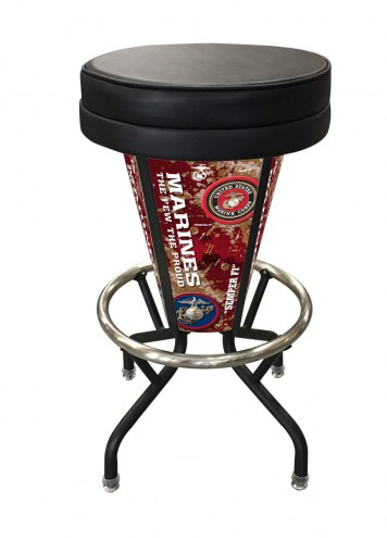 U.S. Marine Corps Indoor/Outdoor Lighted Bar Stool