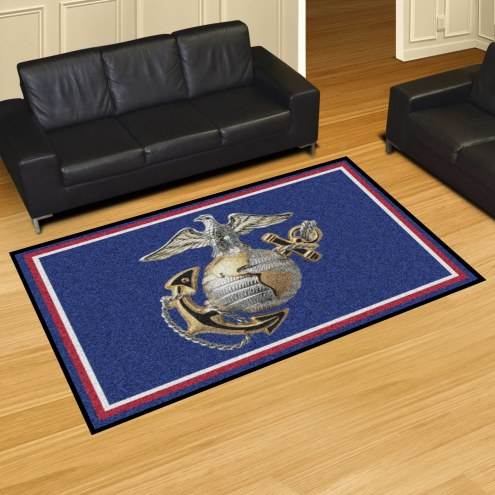 U.S. Marine Corps Red 5' x 8' Area Rug