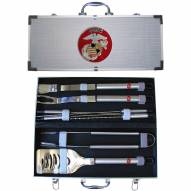 U.S. Marine Corps 8 Piece Stainless Steel BBQ Set w/Metal Case