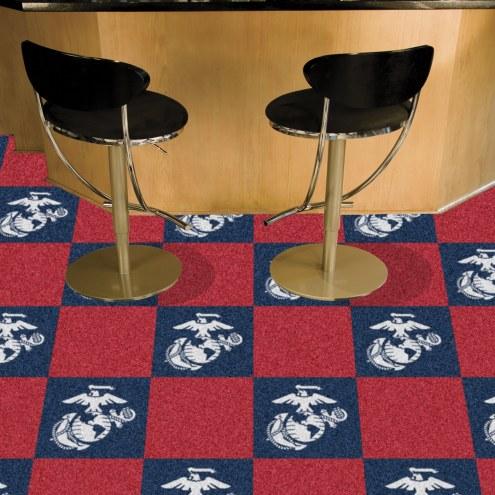 U.S. Marine Corps Team Carpet Tiles